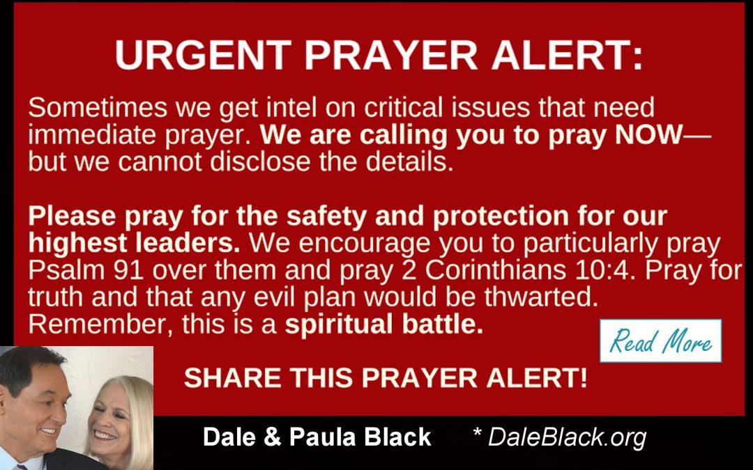 URGENT – WE WERE WARNED ! – Dale & Paula Black